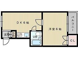 トーアパステルハイツ[3階]の間取り