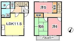 [テラスハウス] 岡山県倉敷市玉島1丁目 の賃貸【/】の間取り