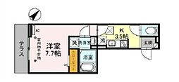 埼玉高速鉄道 浦和美園駅 徒歩9分の賃貸アパート 1階1Kの間取り