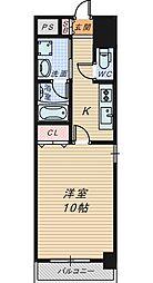 TKアンバーコート六条通[2階]の間取り