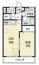 プレール横浜西谷[203号室]の間取り