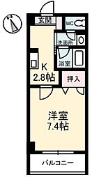 JRBハイツ倉敷[2階]の間取り