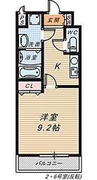 シャルム・堺[6階]の間取り