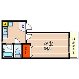 滋賀県彦根市河原1丁目の賃貸アパートの間取り
