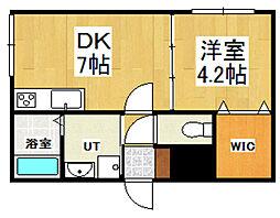 小樽駅前プレジデント[107号室]の間取り