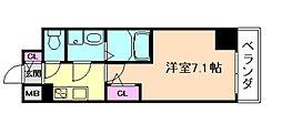 サムティ福島ルフレ 8階1Kの間取り