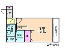 大阪府大阪市西淀川区大野3丁目の賃貸アパートの間取り