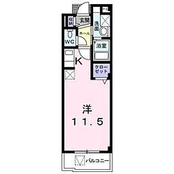ユング フラウII 3階ワンルームの間取り