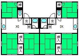 コーポ佐知川[202号室]の間取り