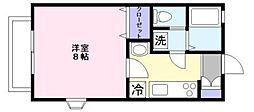 ポモドーロ 壱番館[2階]の間取り
