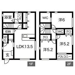 埼玉高速鉄道 戸塚安行駅 徒歩15分の賃貸一戸建て 3LDKの間取り