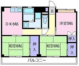 ビレッジハウス城蓮寺5号棟[1階]の間取り