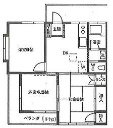 埼玉県草加市原町3丁目の賃貸アパートの間取り