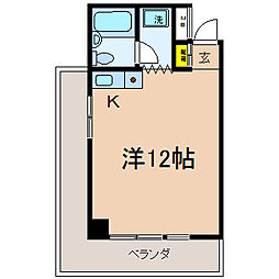 神奈川県横浜市保土ケ谷区帷子町2丁目の賃貸マンションの間取り