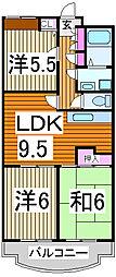 ピュア東所沢[4階]の間取り