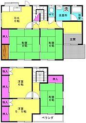 [一戸建] 兵庫県加古川市野口町二屋 の賃貸【/】の間取り