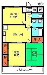 ライオンズマンション川口第三[2階]の間取り