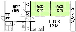 HIKO壱番館[2階]の間取り