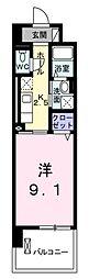 JR武蔵野線 武蔵浦和駅 徒歩13分の賃貸マンション 3階1Kの間取り
