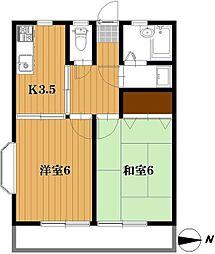 千葉県松戸市五香西2丁目の賃貸アパートの間取り