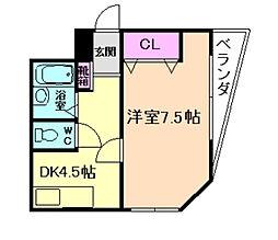 第2柴田ビル[2階]の間取り