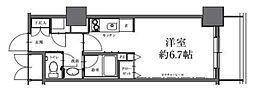 HF駒沢公園レジデンスTOWER 2階ワンルームの間取り