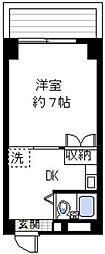 シャトレー伊勢佐木[7階]の間取り
