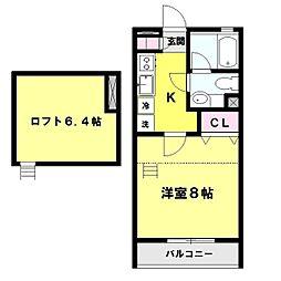 ユーラル昴苑[2階]の間取り
