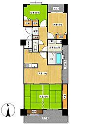 ロワールマンション新室見B棟[5階]の間取り