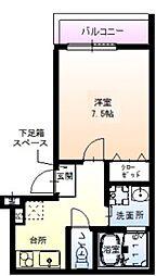 フジパレス針中野VI番館 3階1Kの間取り