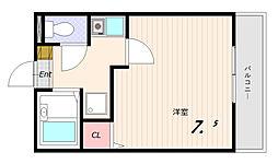 ヒルズ平和台B[2階]の間取り