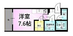 JR川越線 西大宮駅 徒歩7分の賃貸アパート 1階ワンルームの間取り