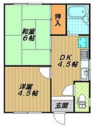 メゾンフローラ[2階]の間取り
