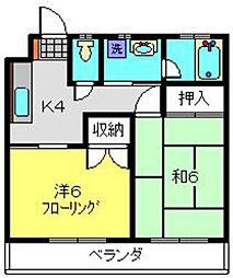 神奈川県横浜市南区八幡町の賃貸マンションの間取り
