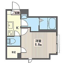 ブラン文京護国寺 2階1SKの間取り