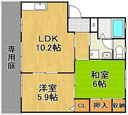 福岡県糸島市篠原東2丁目の賃貸アパートの間取り