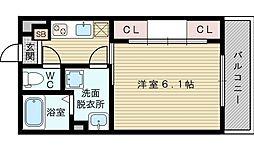 Rcm淡路[3階]の間取り
