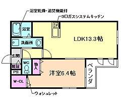 (仮称)北区同心ヘーベルメゾン[2階]の間取り