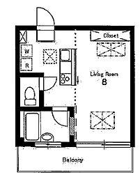ルネスガーデン[3階]の間取り