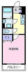 EXハイツ北新町[3階]の間取り