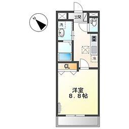 JR阪和線 和泉府中駅 徒歩25分の賃貸アパート 1階1Kの間取り