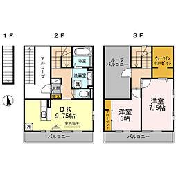 神奈川県川崎市宮前区南平台の賃貸アパートの間取り