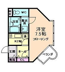 ザ・スタンホープ21[2階]の間取り