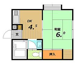 Tハイツ−I[2階]の間取り