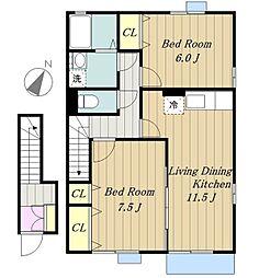 ミルキーハウス[2階]の間取り