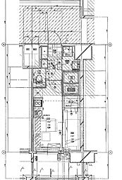 福岡市地下鉄七隈線 渡辺通駅 徒歩5分の賃貸マンション 13階1DKの間取り
