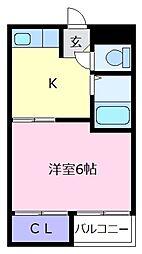 井宮マンション[1階]の間取り