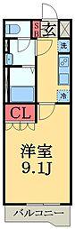 千葉県市原市飯沼の賃貸アパートの間取り