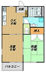 メゾン桜木[1階]の間取り