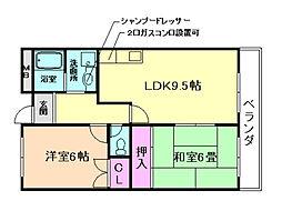 伊丹マンション[4階]の間取り